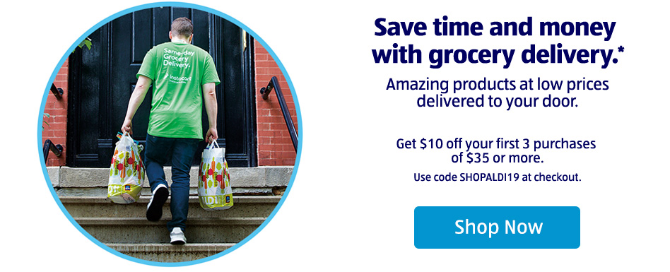 Save time and money with grocery delivery.* Click to Shop Now.