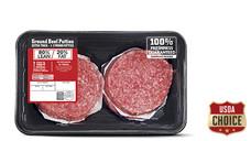Fresh USDA Choice 80% Lean Ground Beef Patties