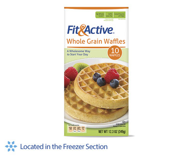 ... to School Back to School Products Fit & Active Whole Grain Waffles