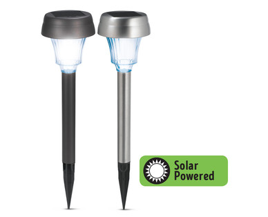 aldi us gardenline stainless steel solar light. Black Bedroom Furniture Sets. Home Design Ideas