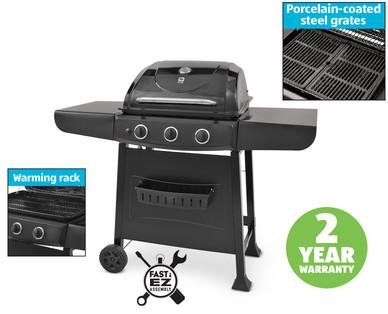 aldi us range master 3 burner gas grill. Black Bedroom Furniture Sets. Home Design Ideas