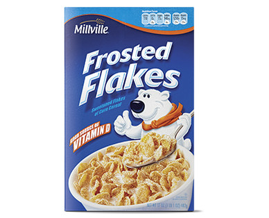 Millville Cereal     Frosted Flakes