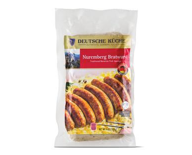 Deutsche Küche Nuremberg Bratwurst