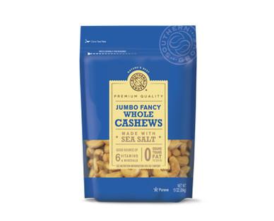 Southern Grove Jumbo Fancy Whole Cashews With Sea Salt