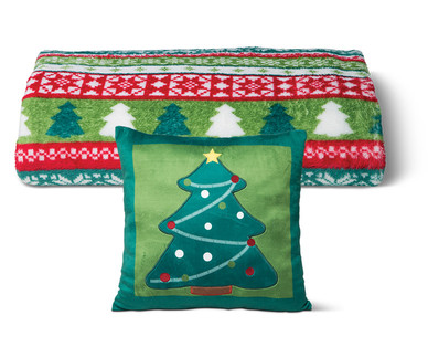 ALDI US - Huntington Home Holiday Throw or Pillow Assortment