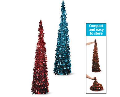 aldi us huntington home 5 39 collapsible tinsel tree. Black Bedroom Furniture Sets. Home Design Ideas