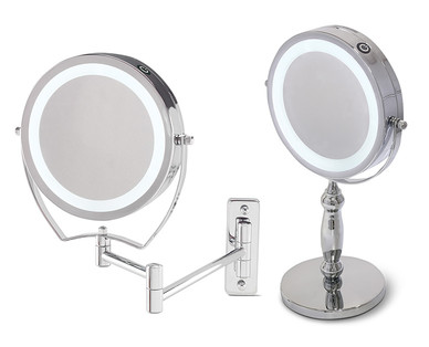 Aldi Us Visage Double Sided Lighted Makeup Mirror