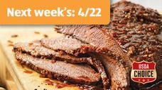 Fresh USDA Choice Beef Brisket Flat