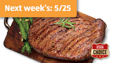 Fresh USDA Choice Boneless Beef Ribeye Steak Twin Packs