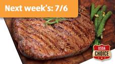 Fresh USDA Choice Boneless Beef Ribeye Steak Twin Packs