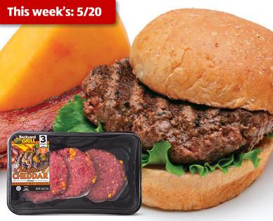 Backyard Grill Fresh Bacon Cheddar Homestyle Beef Patties