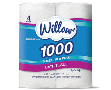 Willow 1-Ply Bath Tissue